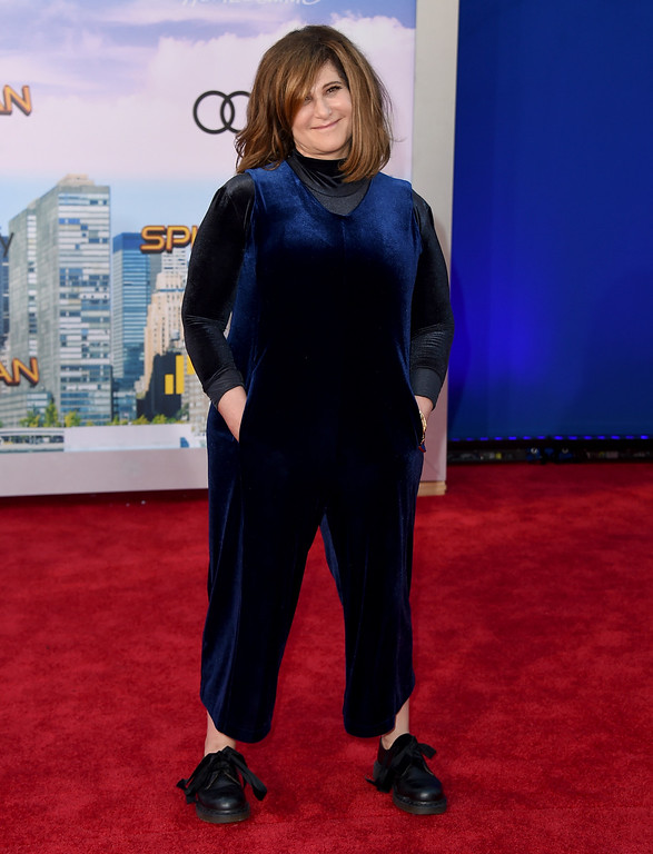""". Amy Pascal arrives at the Los Angeles premiere of \""""Spider-Man: Homecoming\"""" at the TCL Chinese Theatre on Wednesday, June 28, 2017. (Photo by Jordan Strauss/Invision/AP)"""