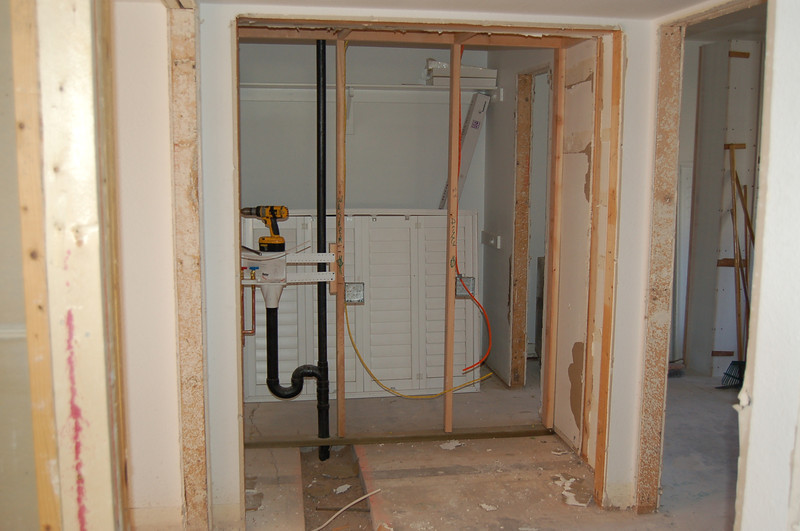 This will become the laundry room, with the guest closet behind it.