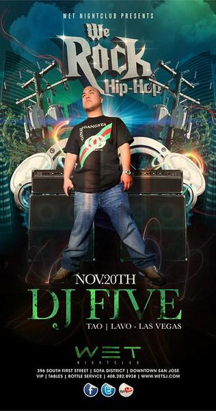 11/20 [We rock hip hop@WET w/ DJ FIVE]