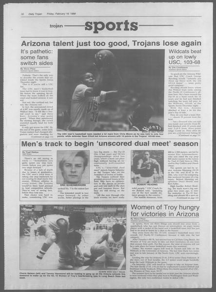 Daily Trojan, Vol. 106, No. 27, February 19, 1988