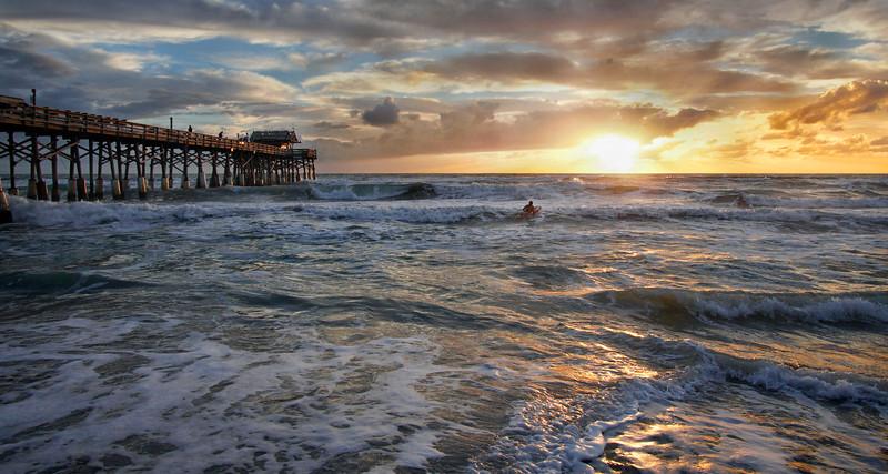 Sunrise surfer.