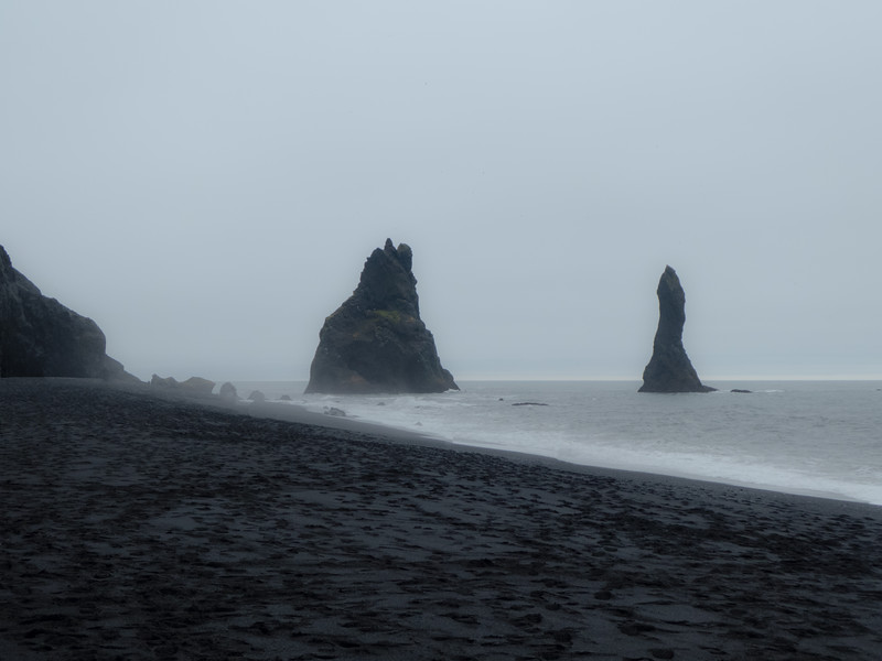 Reynisfjara Black Sand Beach. South Coast near Vik, Iceland