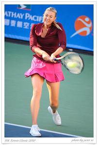 Hong Kong Tennis Classic 2010 Maria Sharapova Vs Caroline Wozniacki