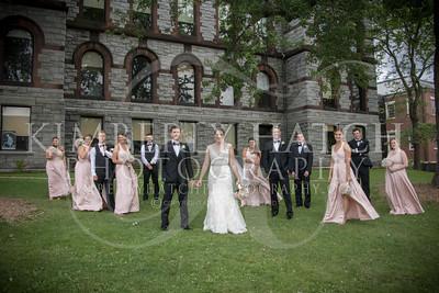Portraits Group- Annie Siemianowski Mike Asselin Wedding Photos- Sacred Heart Church Springfield, MA/ Hotel Northampton MA