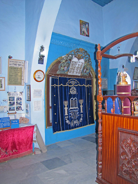 23-Ark, Caro Synagogue. Since the 16th century, Safed has been considered one of Judaism's Four Holy Cities, along with Jerusalem, Hebron and Tiberias.