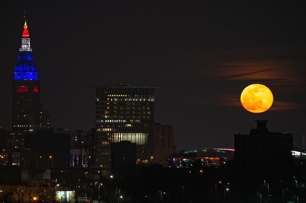 February 2021 Full Moon over Cleveland