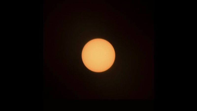 Partial solar eclipse - a 5-second timelapse movie