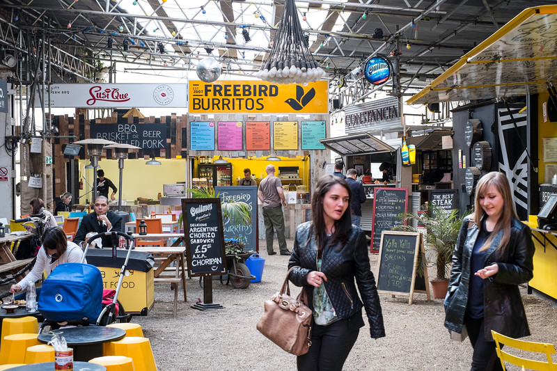 Cafe bars by Shoreditch High Street, London, United Kingdom