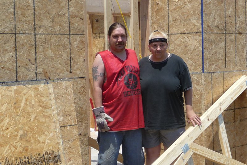 2012 07-11  Homeowners putting in their sweat equity hours.