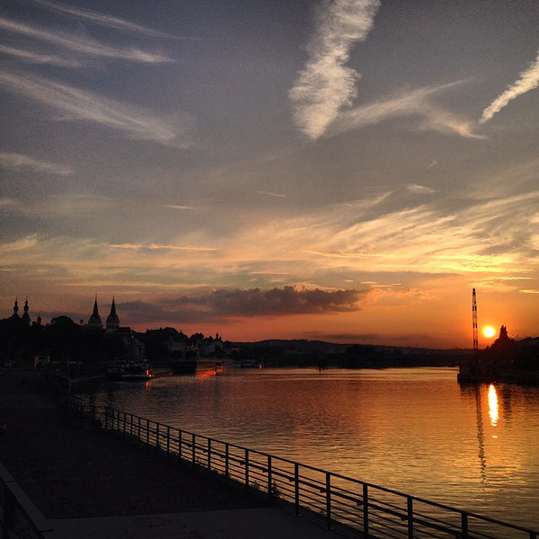 Koblenz - Sunset at Deutsches Eck