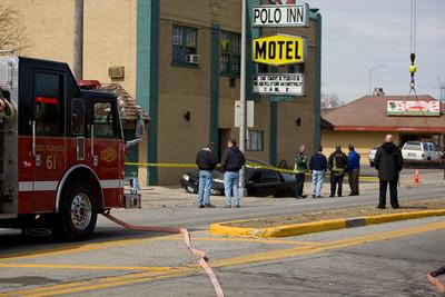 Des Plaines Police Car VS Sink Hole 3/20/2009