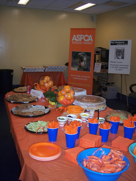 The launch party for ASPCA Mission Orange
