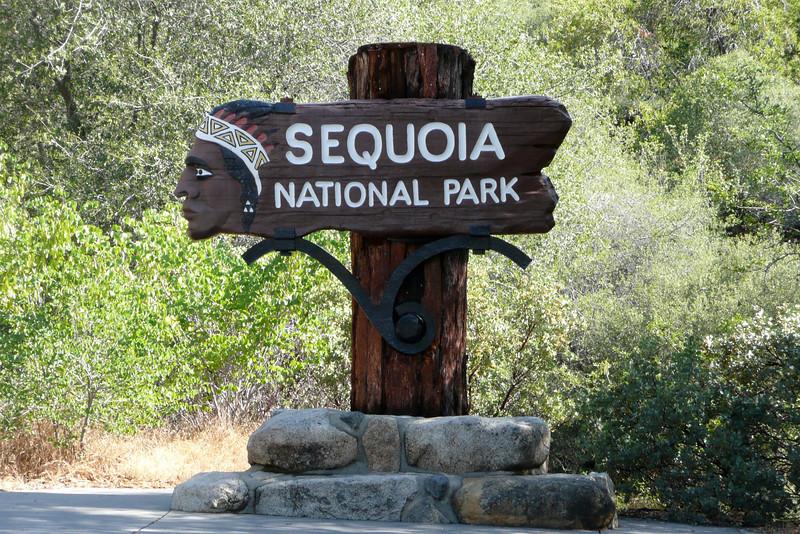 Park Entrance. Sequoia NP