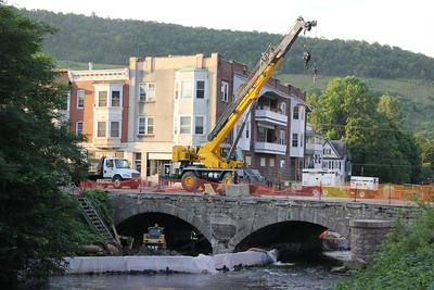 Construction Status, Bridge Work, East Broad St, US209, Tamaqua (7-24-2013)