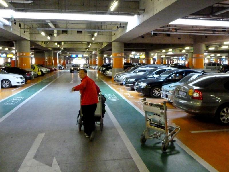 Beijing airport garage...painted floors throughout!
