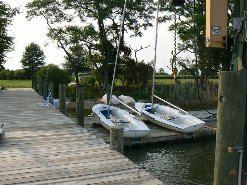 Floating docks provide a convenient way to store our 420's.