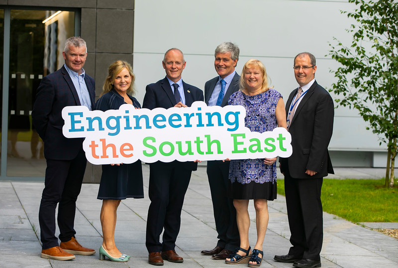 20/06/2019. Engineered for success. Industry leaders launch cluster to promote engineering in South East.  Engineering the South East was launched in Wexford this morning with a mission to see companies working together to address skills needs, promote careers in engineering and advance the engineering capabilities of the region.   Pictured are Martin Stapleton CDS Architectural Metalwork, Kilkenny, Lily Holmes, Burnside Group, Carlow, Michael Carbery, new chair of 'Engineering the South East' & Keenan Alltech Borris, Edmond Connolly South East Regional Skills Forum, Carrie Rockett, Integer, New Ross, Liam Hore, Waters Technologies, Wexford.. Picture: Patrick Browne