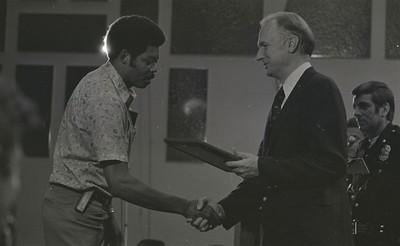 Mayor Hudnut Presents IPD Awards at City-County Council Chamber, Circa 1977, Img. 11