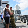 The public were able to see some of the weaponry onboard the British Royal Navy Type 45 destroyer HMS DEFENDER, although kept away from key areas due to security.