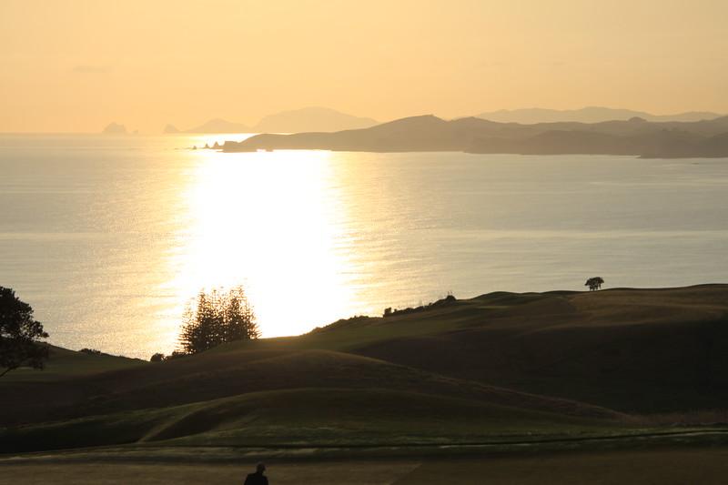 Sunset on Kauri Cliffs Golf Course