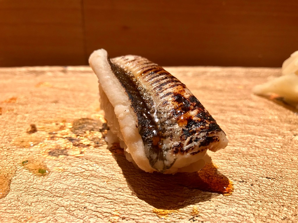 They use slightly different shari for different pieces - here, it was less markedly salty than those used for some of the raw fish.
