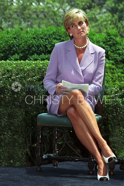Diana, Princess of Wales speaks at the American Red Cross about the dangers of old abandoned landmines .