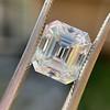 3.10ct Vintage Emerald Cut Diamond, GIA H VS1 28