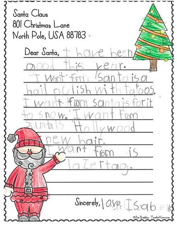 Mrs. Biscarro's First Grade Letters to Santa