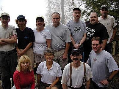 Group Photo taken at Raven Cliff State Park SC