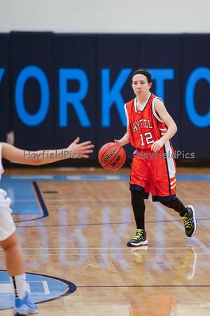 Girls Frosh Basketball v Yorktown 1/13/15