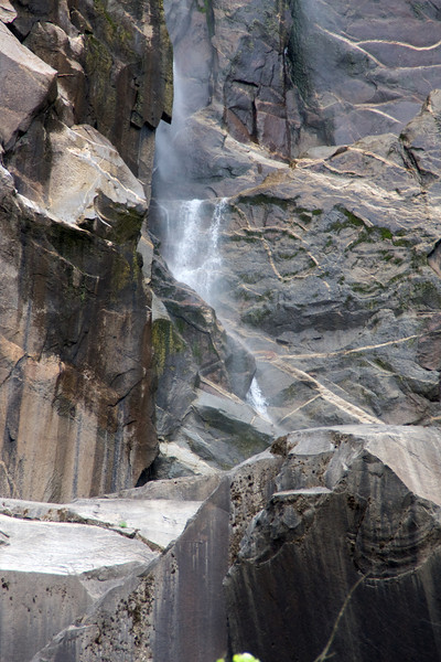 A detail of a small section of Bridalveil.