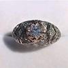 0.94ctw Vintage Old European Cut Diamond Dome Ring, Center OEC (GIA .59ct G SI2) 19
