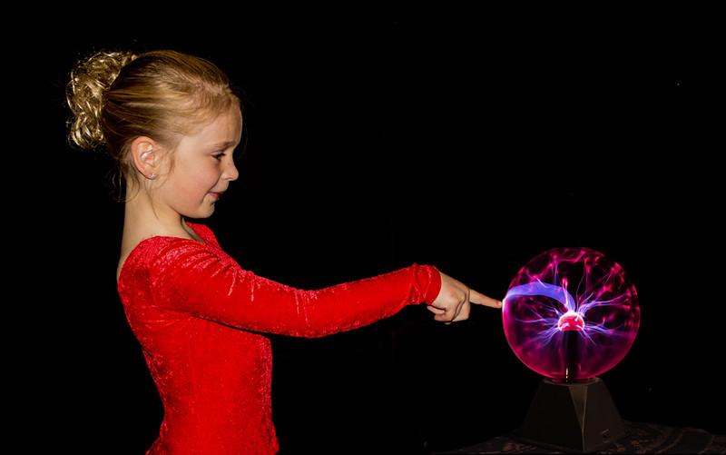 Lauren and the plasma ball