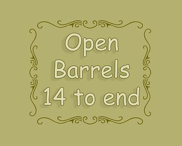 SSBR 2018 Open Barrels 14 to end