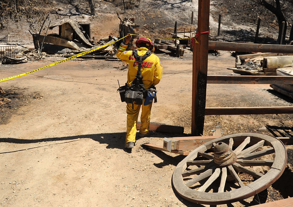 . The Silver Fire burns 16,000 acres, destroys 27 structures, injures six and the fire is 25 percent contained Friday August 9,2013.LaFonzo Carter/ Staff Photographer