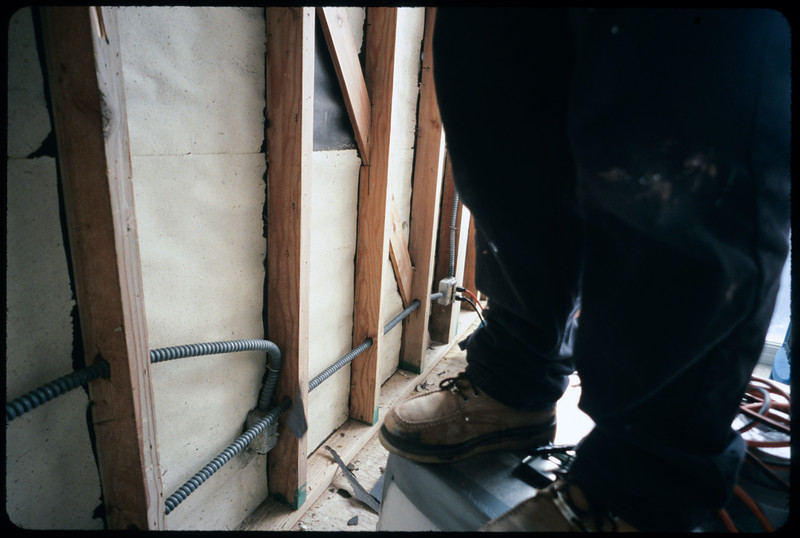 Mold workers in Martin Krieger's apartment, 2004