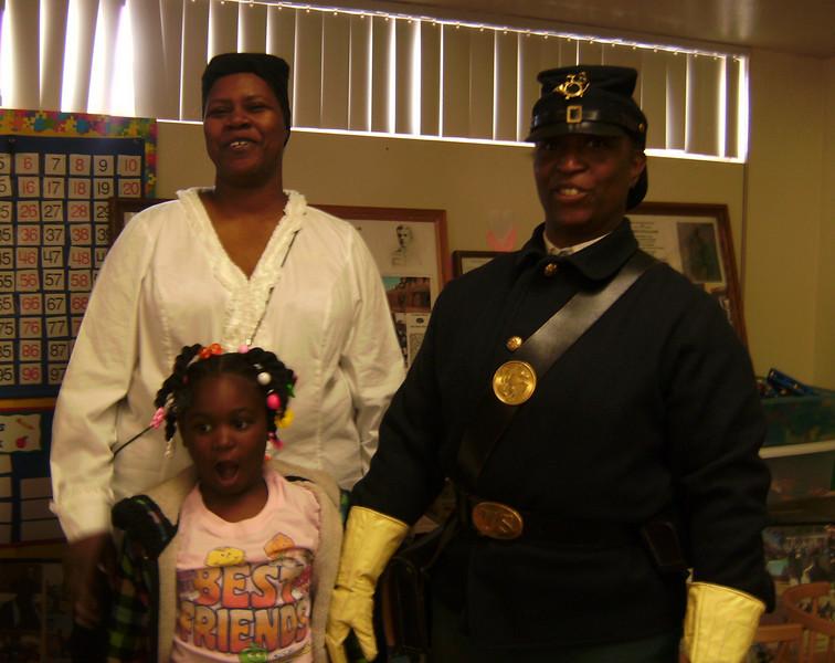 "ARIZONA BUFFALO SOLDIERS, MESA, AZ...Hopi Elementary School (Kindergarten), Scottsdale, AZ. SURPRISE!!! ""Tiffany's Birthday"". Buffalo Soldiers of the Arizona Territory and Ladies of the Regiment. Feb. 10, 2010"
