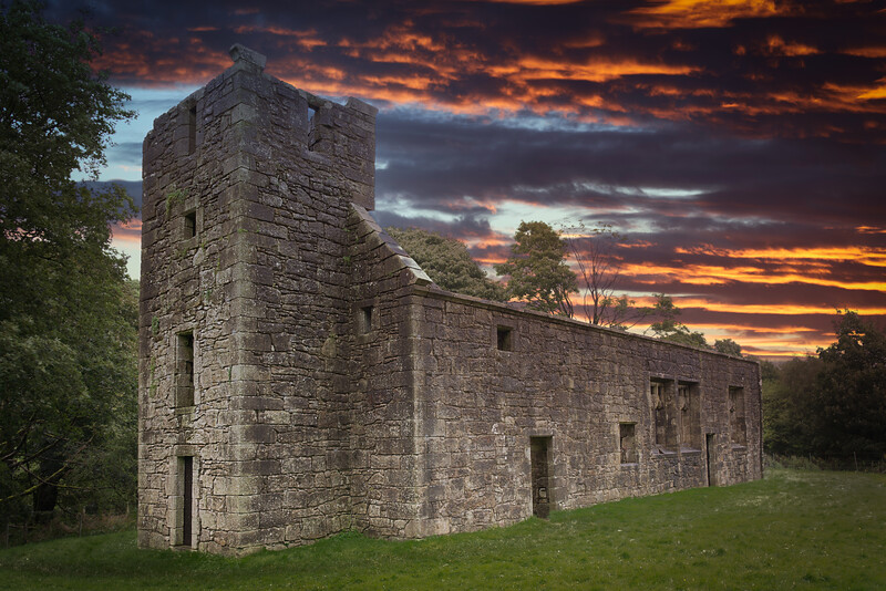 Ancient Ruins of Castle Semple Collegiate Church Lochwinnoch Scotland.
