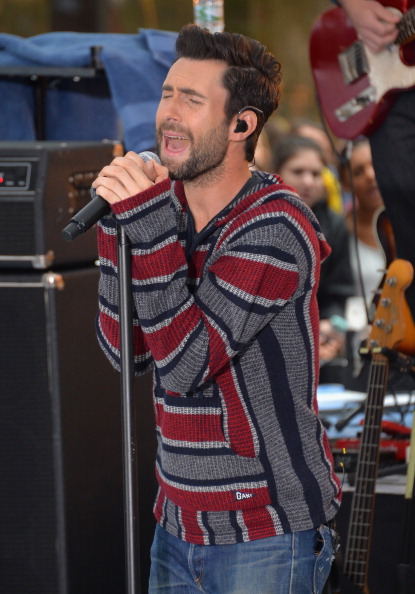 ". NEW YORK, NY - JUNE 14:  Singer Adam Levine of the band Maroon 5 performs on NBC\'s ""Today\"" at the NBC\'s TODAY Show on June 14, 2013 in New York, New York.  (Photo by Mike Coppola/Getty Images)"