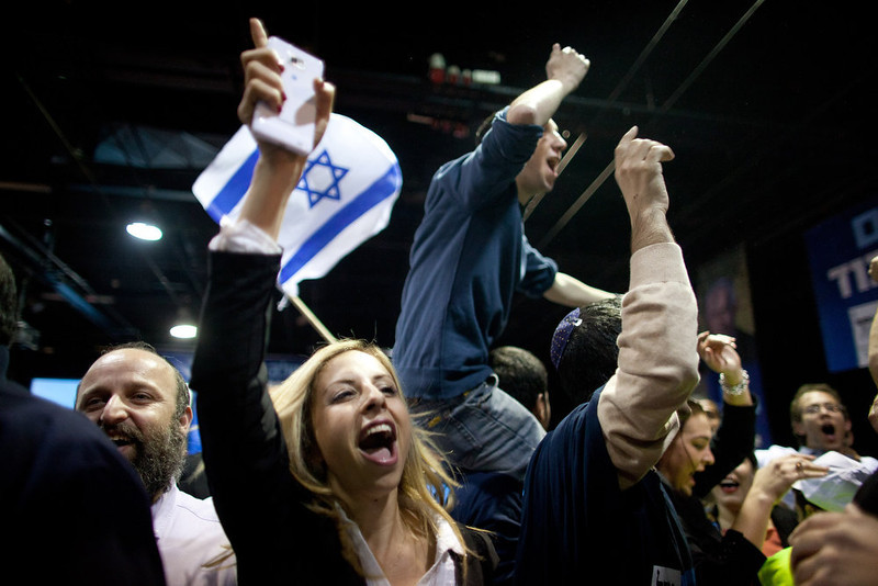 . Prime Minister Benjamin Netanyahu\'s rightist Likud-Beitenu party came out on top in Israel\'s election on Tuesday, exit polls said, with Israel seeing the highest turnout of voters since 1999.  (Photo by Uriel Sinai/Getty Images)
