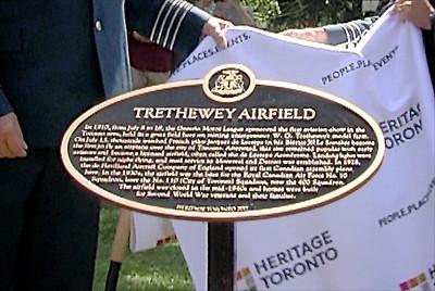 Trethewey Airfield Plaque ~ Dedication Ceremony