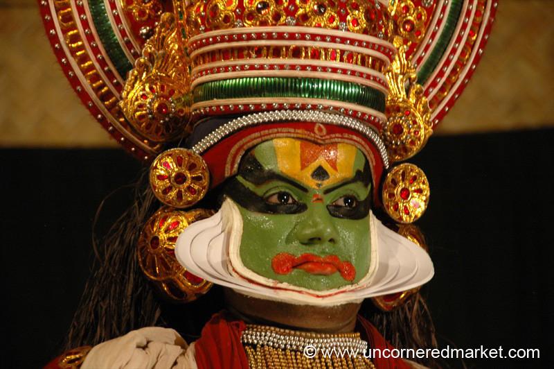 Kathakali Dancer, Close Up - Kochi, India