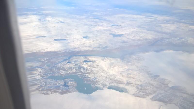 Homeward bound over northern Canada.