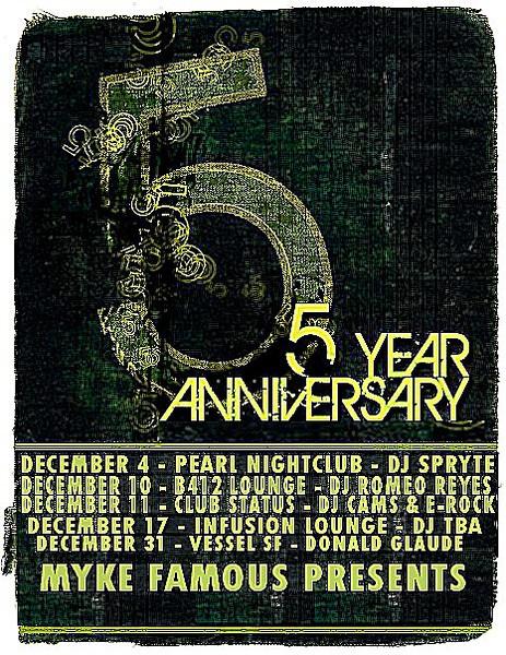 Myke Famous presents 5 Year Anniversary @ B4Twelve 12.10.10