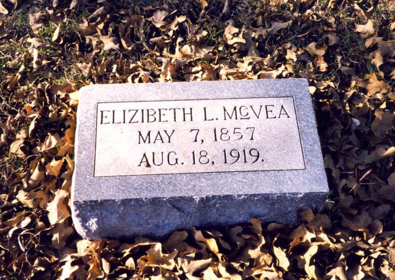"McVEA, ELIZABETH LOUISE ""LIZZIE"" (REID) Waelder Masonic Cemetery, Waelder, Texas"