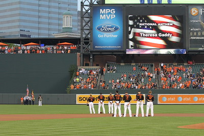 2012 National Board MD Wing Presents Colors at Orioles game