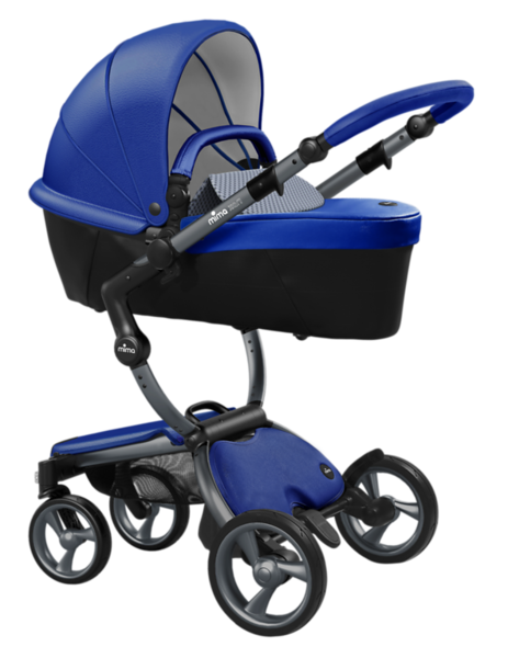Mima_Xari_Product_Shot_Royal_Blue_Graphite_Chassis_Retro_Blue_Carrycot.png