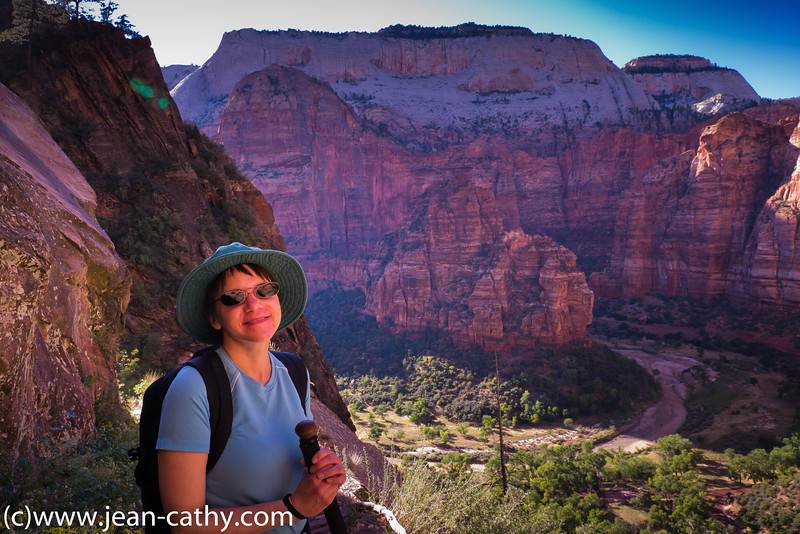 Zion National Park in Utah. This park is one of the the most spectacular places that I have explored. It is on our list to visit again!