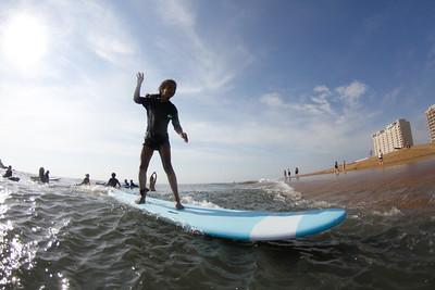 Girls Surfing