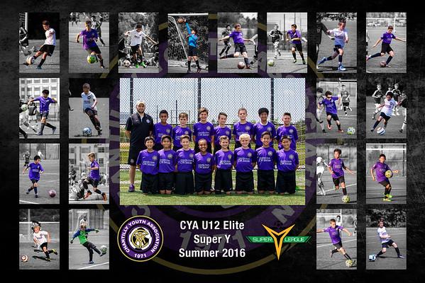 2016 CYA U12B Team Poster